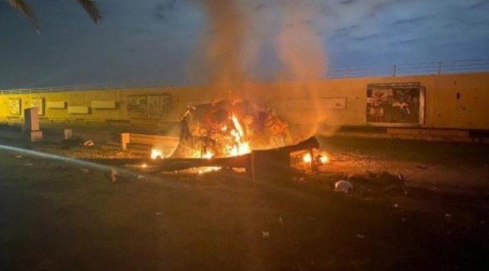 Serangan AS di Bandara Internasional Baghdad, Irak pada Jumat (3/1).