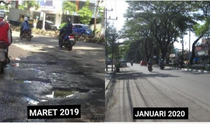 Bertahun-tahun Rusak, Kini Jl Hertasning Makassar Mulus