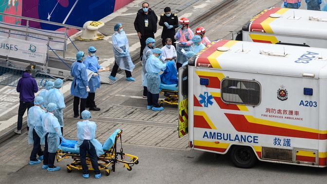 Penanganan pasien virus corona di China. (Foto: AFP)