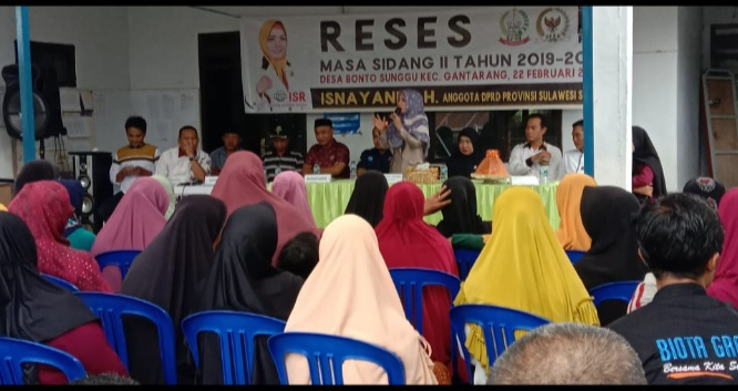 Anggota DPRD Sulsel Fraksi PKS, Isnayai saat menggelar Reses.