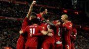 Selebrasi para pemain Liverpool