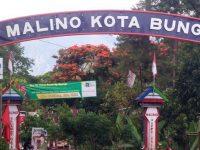 Gerbang masuk Malino Kota Bunga Kabupaten Gowa.