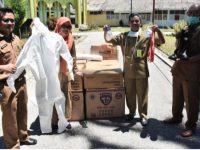 Sebanyak 100 set Alat Pelindung Diri (APD) akhirnya tiba di Masamba, Kabupaten Luwu Utara, Senin (23/3/2020).