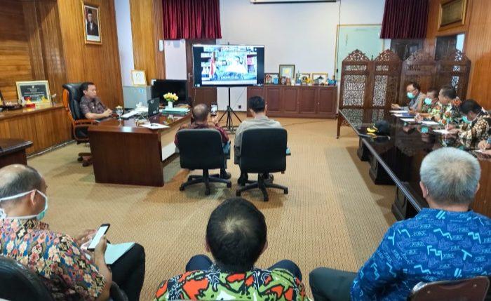 Video Conference, Bupati Selayar Laporkan Kondisi Pencegahan Covid-19 ke Gubernur