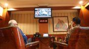 Bupati Bantaeng, DR Ilham Azikin didampingi Wakil Buoati, menggelar teleconfrence dengan Gubernur Sulsel, HM Nurdin Abdullah