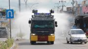 Water Cannon Polres Bulukumba Beraksi, Semprot Disenfektan Sepanjang Jalan