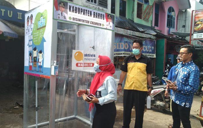 Pemkab Barru Sebar Bilik Sanitizer di Pasar dan Rumah Sakit