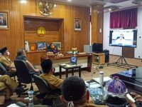 Didampingi Pimpinan OPD Selayar, Basli Ali Video Conference Bersama Mendagri