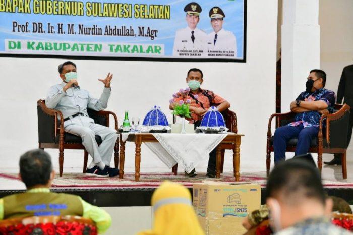 Gubernur Sulawesi Selatan melakukan kunjungan kerja di Kabupaten Takalar, Kamis (23/4/2020) malam.