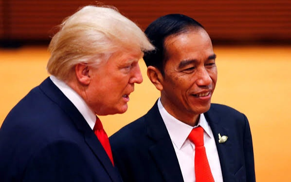 Presiden Amerika Donald Trump dan Presiden Indonesia Joko Widodo (Foto: Reuters)