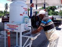 Pertamina Berdayakan Mitra Binaan UMKM Untuk Sediakan Sarana Cuci Tangan Hadapi Covid-19