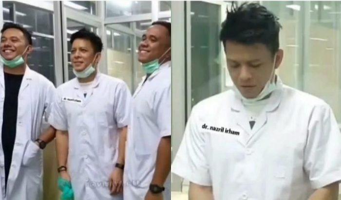 Foto Ariel NOAH yang beredar dan diklaim menjadi relawan tenaga medis. (Ist)
