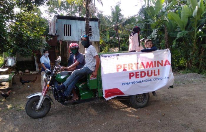 HMI Cagora Bersama Pertamina Berbagi Sembako untuk Warga Terdampak Covid-19