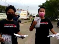 Aksi sosial Yayasan Gerak Bersama Indonesia dalam menangkal wabah virus Corona (Covid-19).