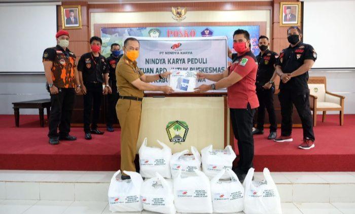 Pemkab Gowa Terima Bantuan APD dari PT Nindya Karya