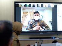 Video Conference Bupati Kabupaten Gowa, Adnan Purichta Ichsan.