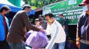 Bersama HMI MPO, Wabup Barru Bagikan Paket Sembako