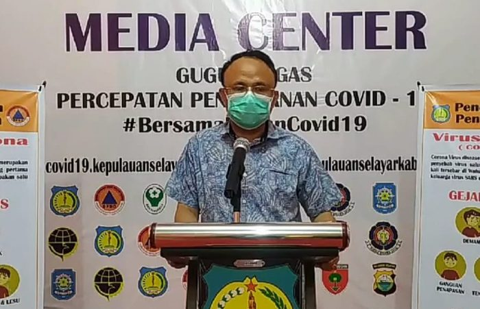 Juru bicara Gugus Tugas Percepatan Penanganan Covid-19 Kepulauan Selayar, dr. Husaini, M.Kes