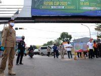 Bupati Gowa, Adnan Purichta IYL turun langsung memantau pelaksanaan PSBB di Kabupaten Gowa