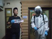 Setelah Gowa, Penyemprotan Disinfektan Relawan YGBI Sasar Sejumlah Titik di Takalar