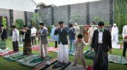 Nurdin Abdullah dan Keluarga Salat Idul Fitri di Kediaman Pribadi