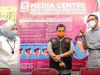 Gubernur Sulsel Nurdin Abdullah saat berkunjung di Media Center Gugus Tugas Penanganan Covid-19 Kota Makassar.