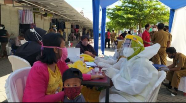 Hari Pertama Rapid Test Massal, Pemkab Gowa Sasar Empat Pasar