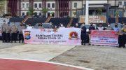 Penyaluran Bantuan Sosial peduli Covid-19 Permanudhi Sulbar merangkul pengusaha Mamuju dan bersinergi TNI dan POLRI, Kamis (14/5/2020).