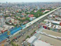 Tol Layang Makassar Masuki Tahap Akhir Pemasangan Balok Jembatan. (Ist)