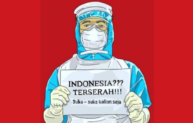 Tagar #IndonesiaTerserah jadi trending di Media Sosial. (Foto; Twitter).