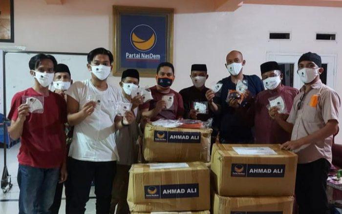 NasDem Peduli Bagikan 5.000 Masker untuk Masyarakat di Polman