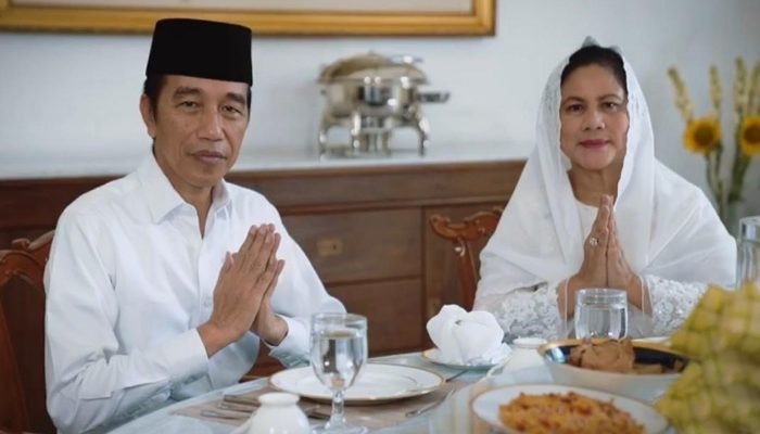 Presiden Jokowi dan Istrinya Iriana. (Ist)