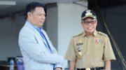 Direktur PDAM Kota Parepare, Andi Firdaus Jollong dan Wali Kota Makassar,
