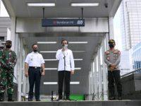 Presiden Jokowi Tinjau Kesiapan Penerapan New Normal di Stasiun MRT