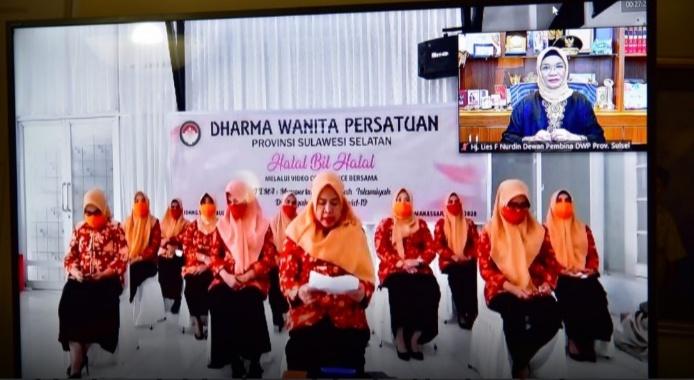 Dharma Wanita Persatuan Sulsel Gelar Halalbihalal Secara Virtual