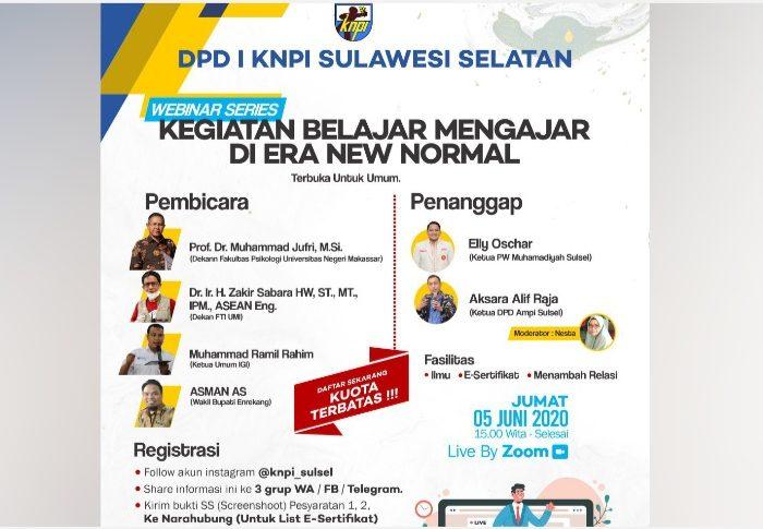 1.779 Peserta dari Seluruh Nusantara Ikuti Webinar Pendidikan KNPI Sulsel