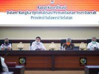 Rapat Koordinasi Dalam Rangka Optimalisasi Pemanfaatan Aset Daerah Provinsi Sulsel, di Ruang Rapat Pimpinan Kantor Gubernur, Rabu, (17/6/2020).