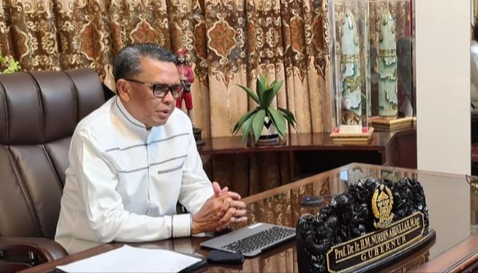 Nurdin Abdullah Silaturahmi dengan Masyarakat Sulsel di Kalbar Secara Virtual