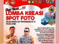 Ayo Ikuti Lomba Kreasi Spot Foto Gowa dalam Rangka HUT ke-74 Bhayangkara