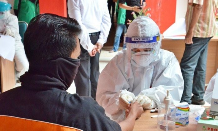 Rapid test massal Universitas Hasanuddin pada 16-17 Juni 2020. (Dok. Unhas)
