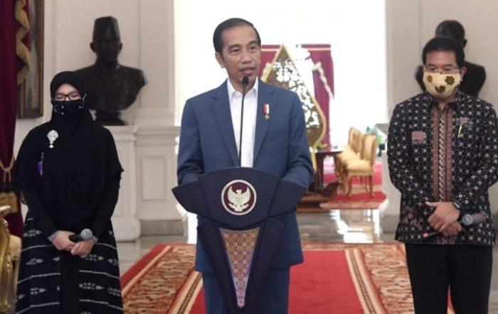 Presiden Jokowi di Istana Merdeka, Jakarta, pada Rabu, (24/6/2020).