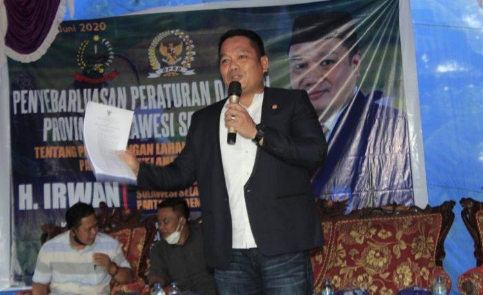 Anggota DPRD Provinsi Sulawesi Selatan, H. Irwan
