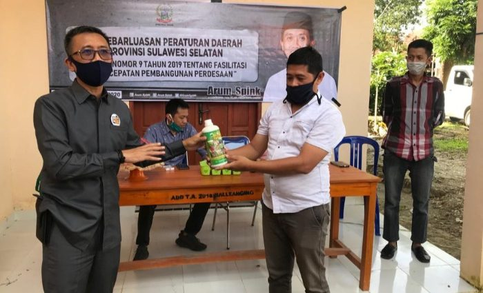 Anggota DPRD Sulsel, Arum Spink, melakukan sosialisasi Peratuan Daerah (Perda)