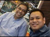 Mantan Wakil Bupati Wajo, Andi Syahrir Kube Daud (Kiri) bersama Tokoh Pemuda Wajo Supriadi Arif. (Foto: Ist)