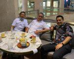 Ketua DPW Nasdem Sulsel Rusdi Masse (RMS) dan Ketua DPD Gerindra Sulsel, Andi Iwan Aras (AIA) melakukan pertemuan
