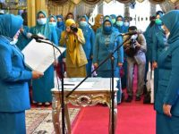 Lantik Ketua PKK Makassar, Lies Minta Fokus Bantu Pemerintah Atasi Covid-19
