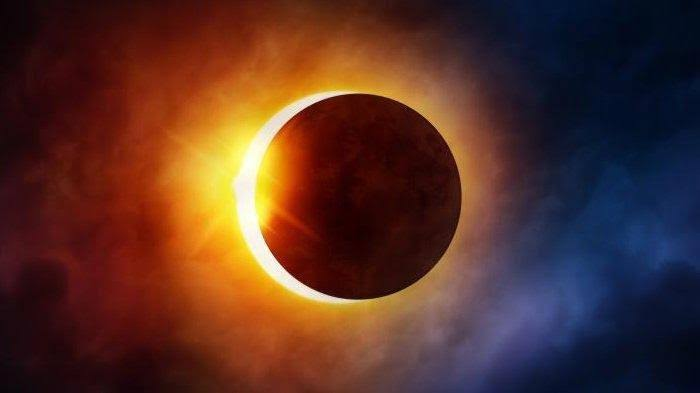 Ilustrasi Gerhana Matahari.