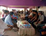 Pertemuan para tokoh untuk pasangan balon bupati Jamaluddin Syamsir-A Mattampawali Andi Sappewali di Palampang, Rilau Ale, Rabu (1/7/2020).