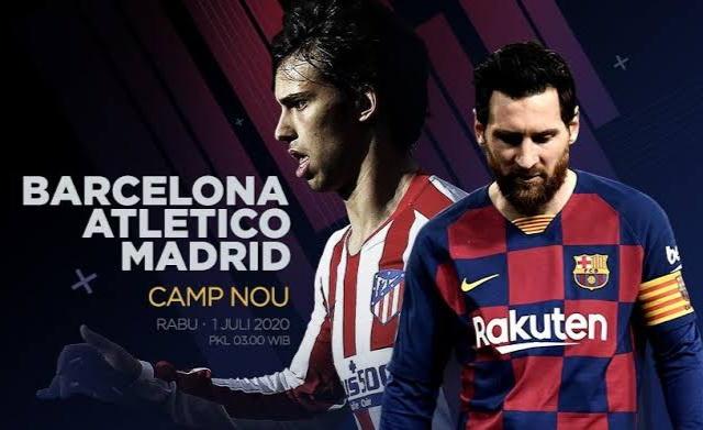 La Liga, Barcelona vs Atletico Madrid (c) Bola.net