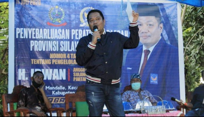Anggota DPRD Sulawesi Selatan (Sulsel), H. Irwan dari Fraksi Partai NasDem